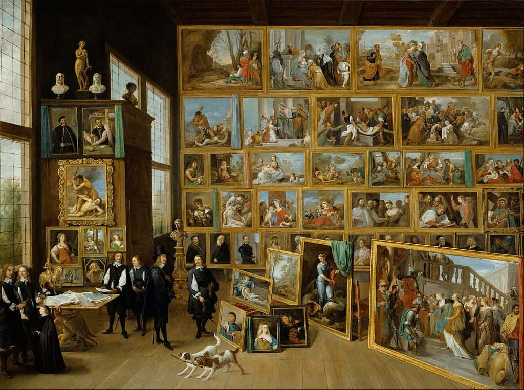 David Teniers the Younger, Gallery Exhibition of Archduke Leopold Wilhelm in Brussels (Vienna), 1651
