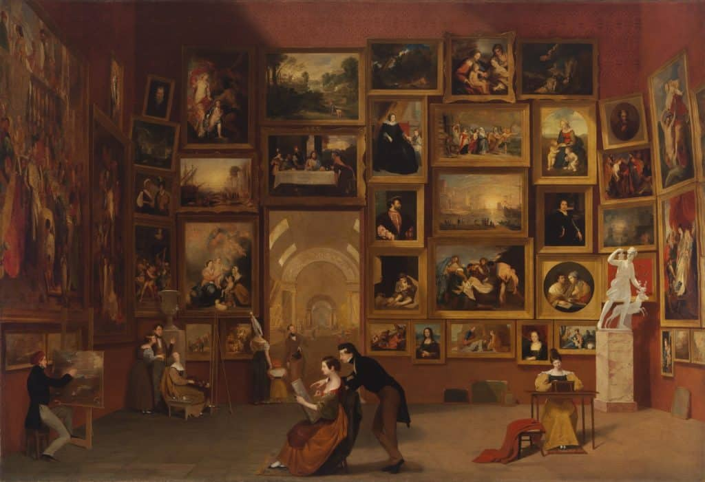 Samuel Morse - Gallery of the Louvre - 1831-33