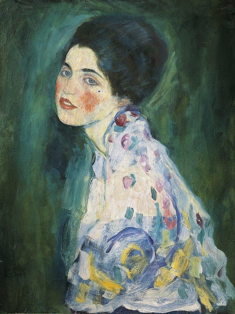 Gustav Klimt - Portrait of a Lady - 1917