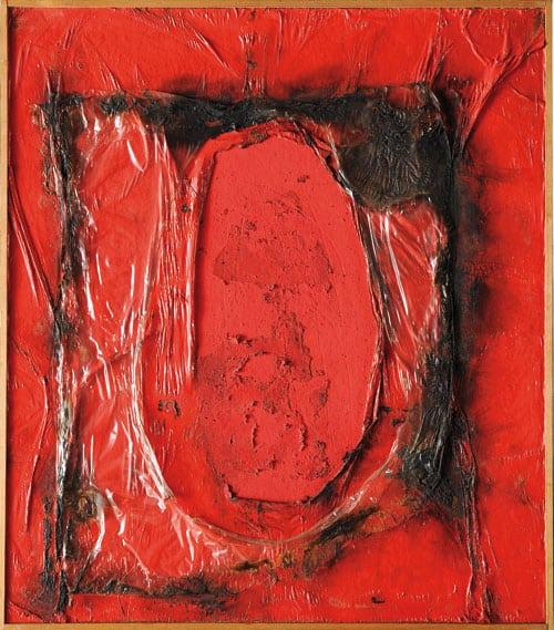 Alberto Burri - Red Plastic - 1961