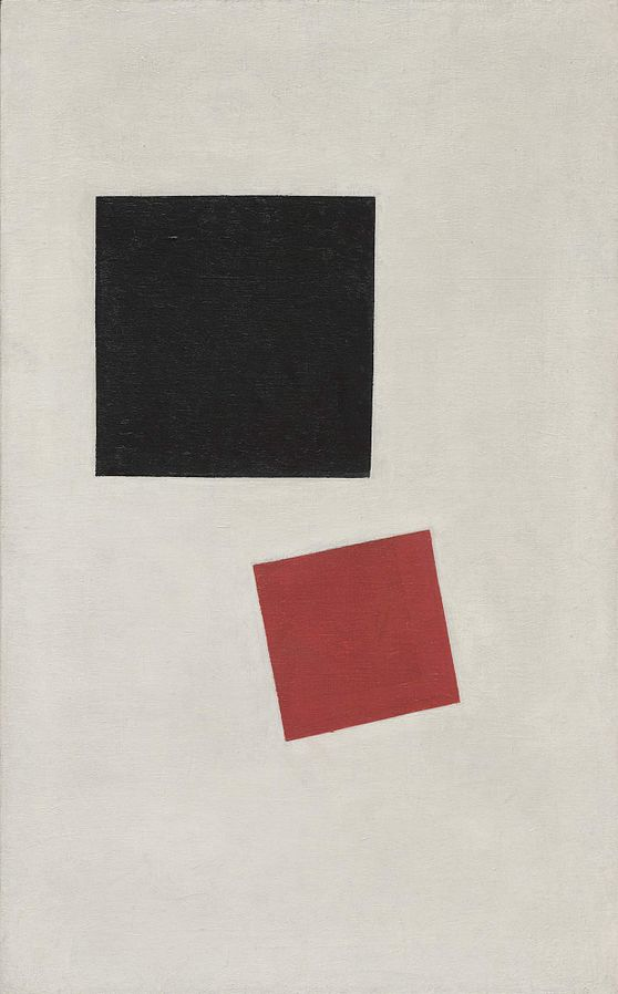 Black Rectangle, Red Square - Fake painting