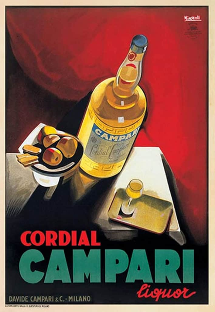 art deco campari poster advertisement