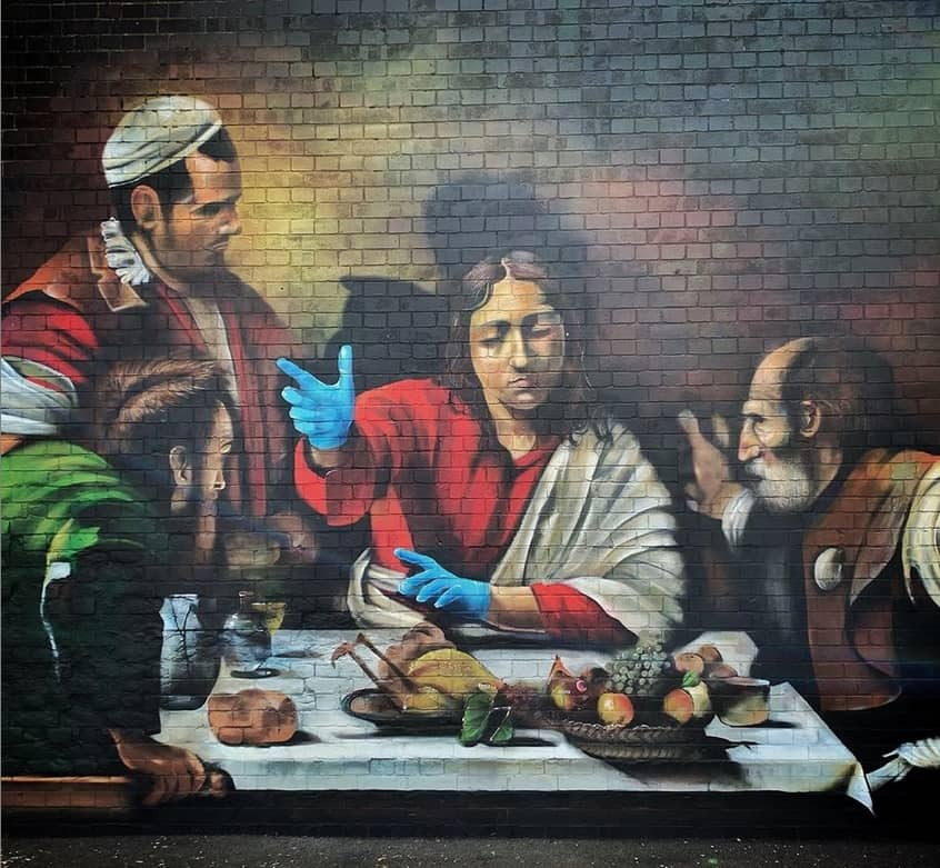 Lionel Stanhope - Supper at Emmaus - Ladywell, London. Street Art