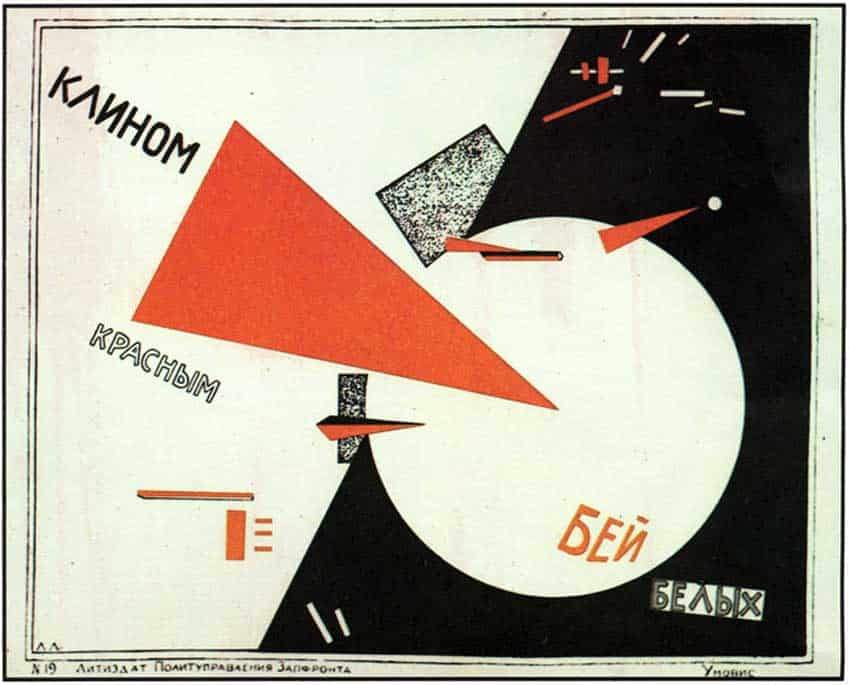 El Lissitzky - Beat the Whites with the Red Wedge - 1920