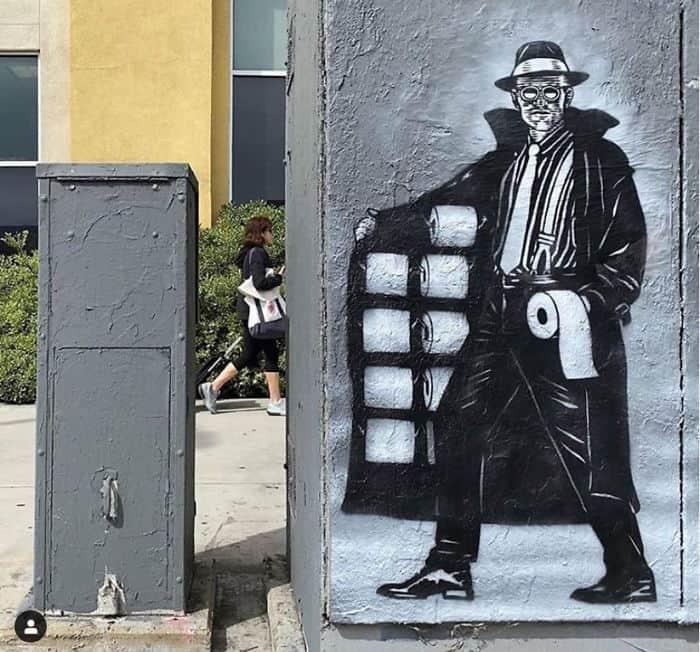 Teachr1 - Coronavirus - Los Angeles Street art