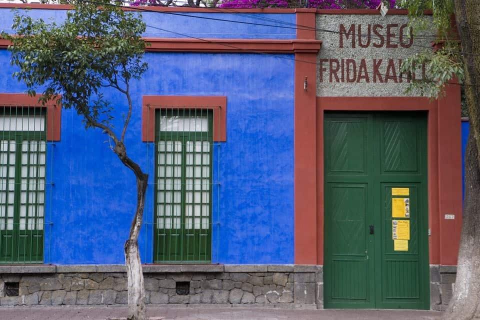 The entrance to Frida Kahlo's Casa Azul