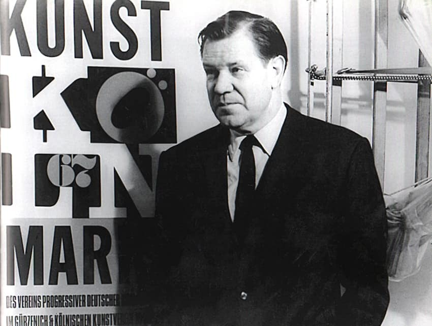 Hein Stünke, co-founder of Art Cologne, at the opening of the fair in 1967