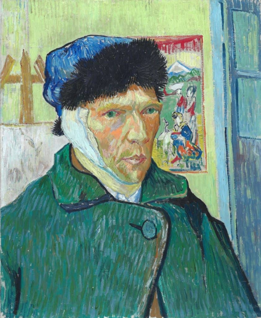Vincent van Gogh - Self-Portrait with Bandaged Ear - 1889