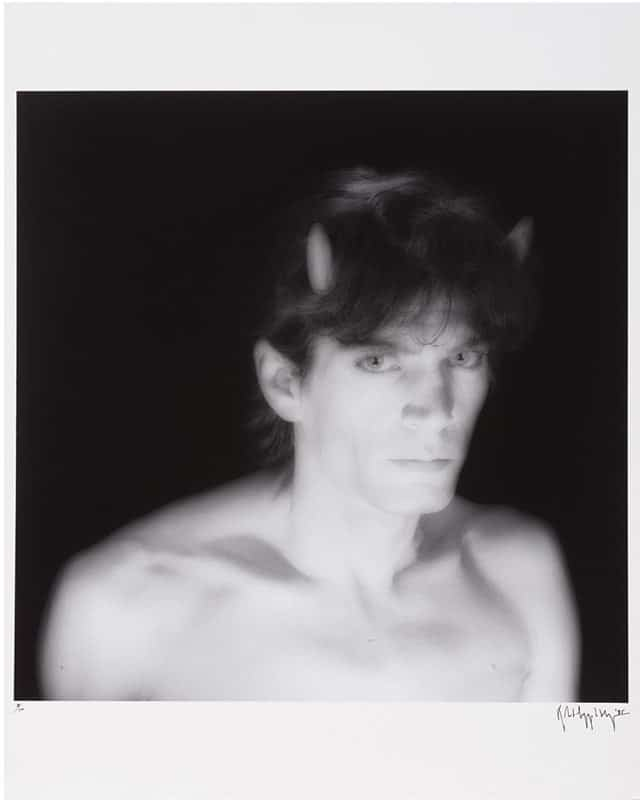 Robert Mapplethorpe - Self Portrait (with horns) - 1985