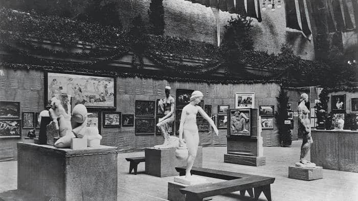View inside the Armory Show of 1913