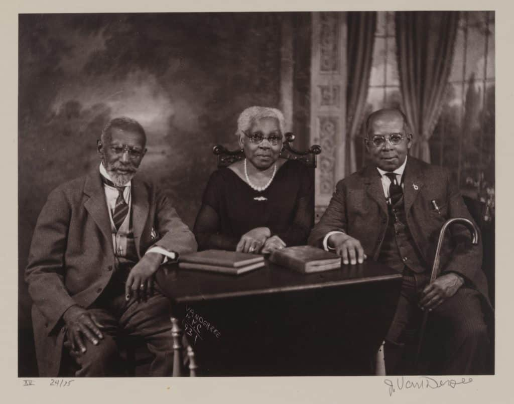 James Van Der Zee - Portrait of Two Brothers and Their Sister - 1931