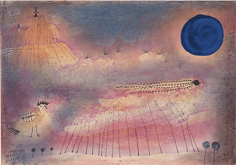 Yayoi Kusama watercolour art