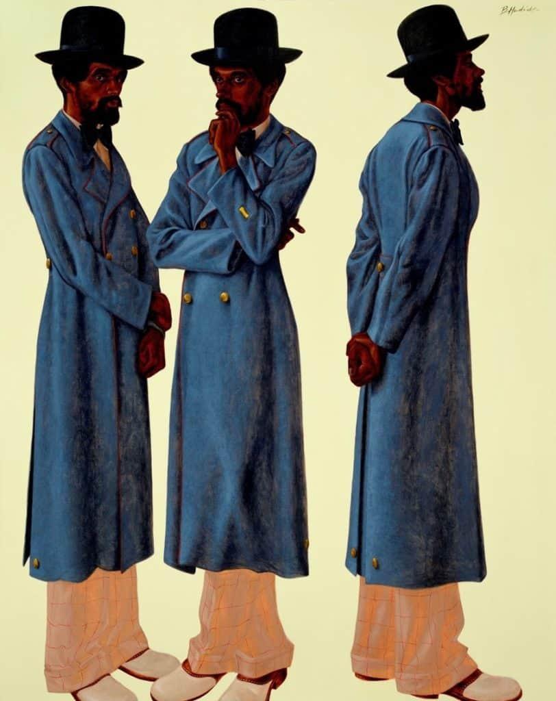 Basir (Robert Gowens), 1975, by Barkley L. Hendricks,