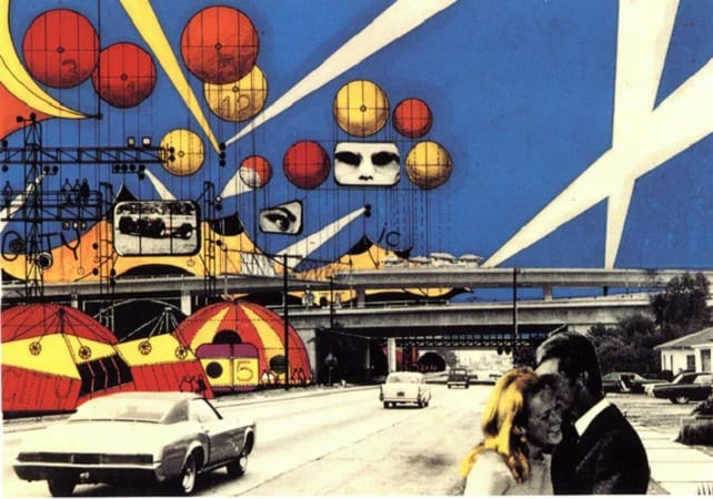 Utopian Architecture. Instant city (1969) by Archigram.