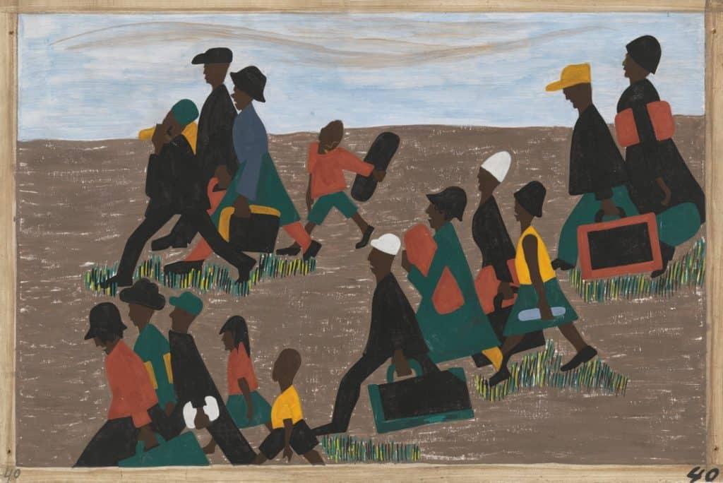 Jacob Lawrence African diaspora - the Migration series