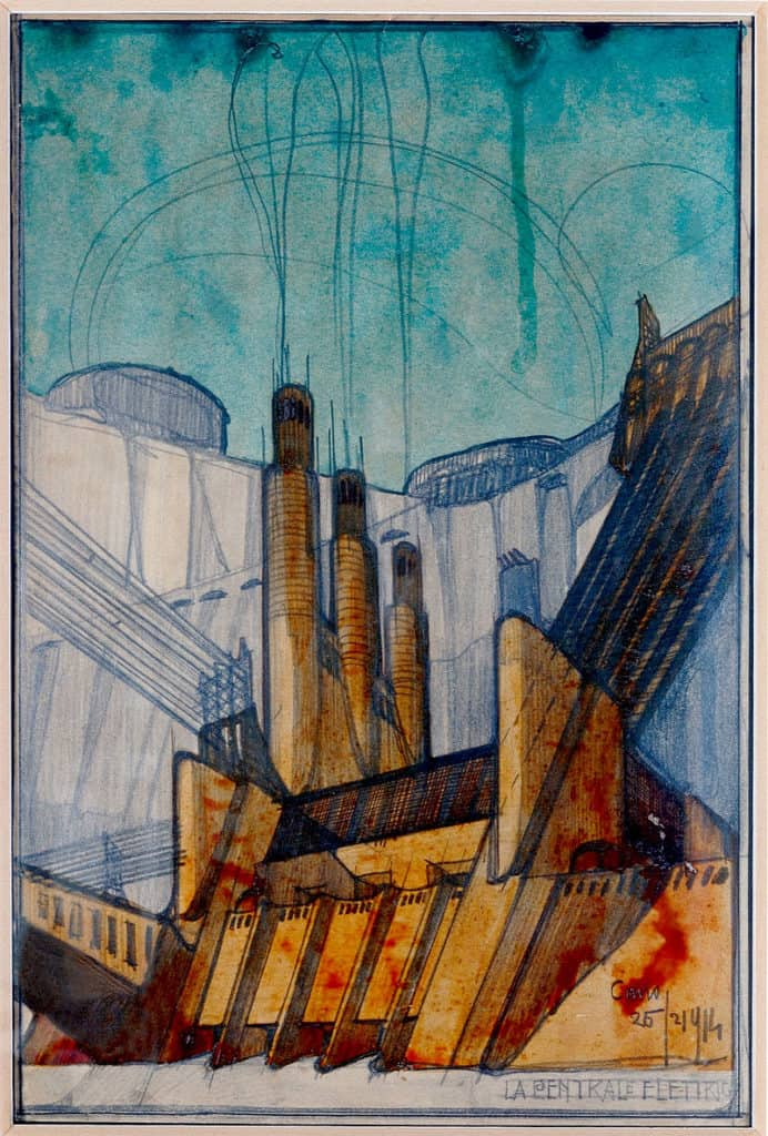 Power station (1914) by Antonio Sant'Elia
