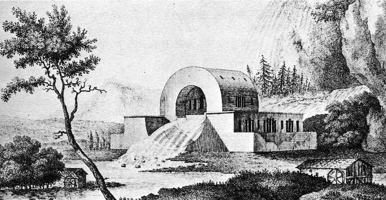 Claude Nicolas Ledoux, Project for the House of supervisors of the source of the River Loue, 1804.