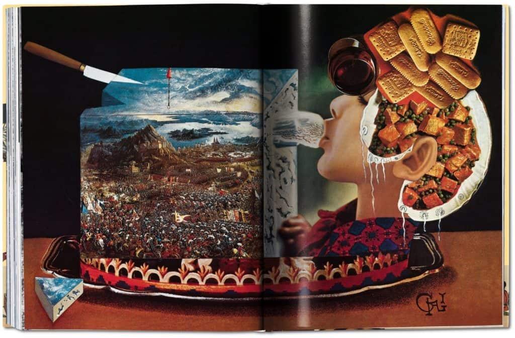 salvador dalì cookbook. Les Dîners de Gala illustration.