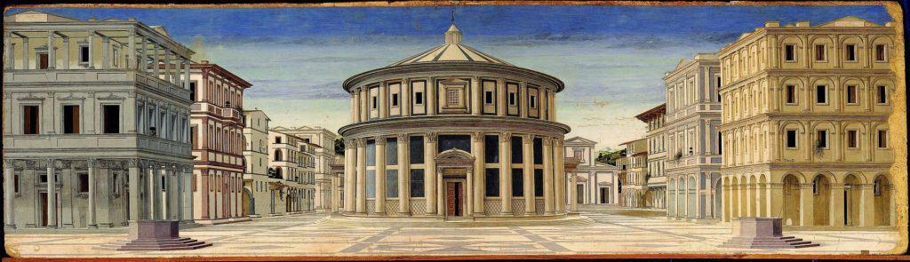 The ideal city,  1480-90, Galleria Nazionale delle Marche, Urbino.