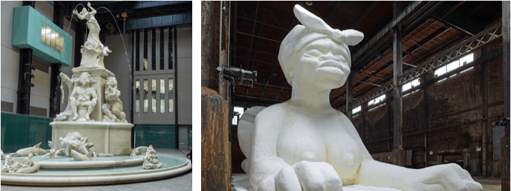 Kara Walker sculptures. protest art.