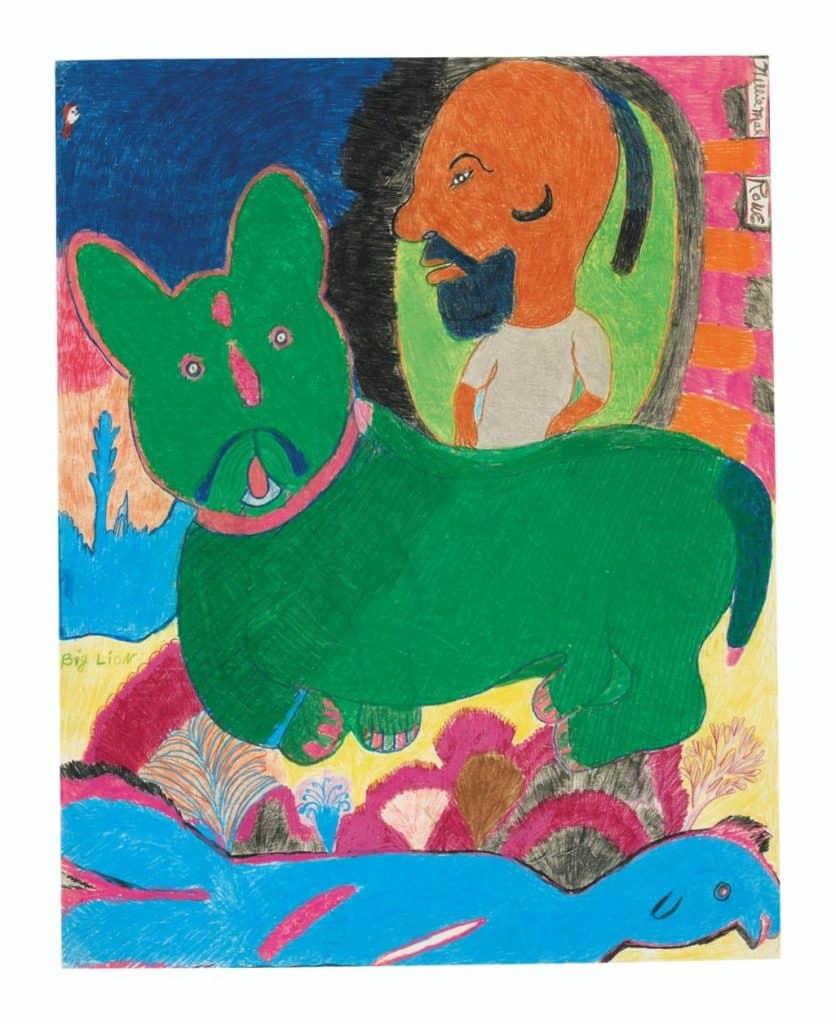 Big Lion by Nellie Mae Rowe