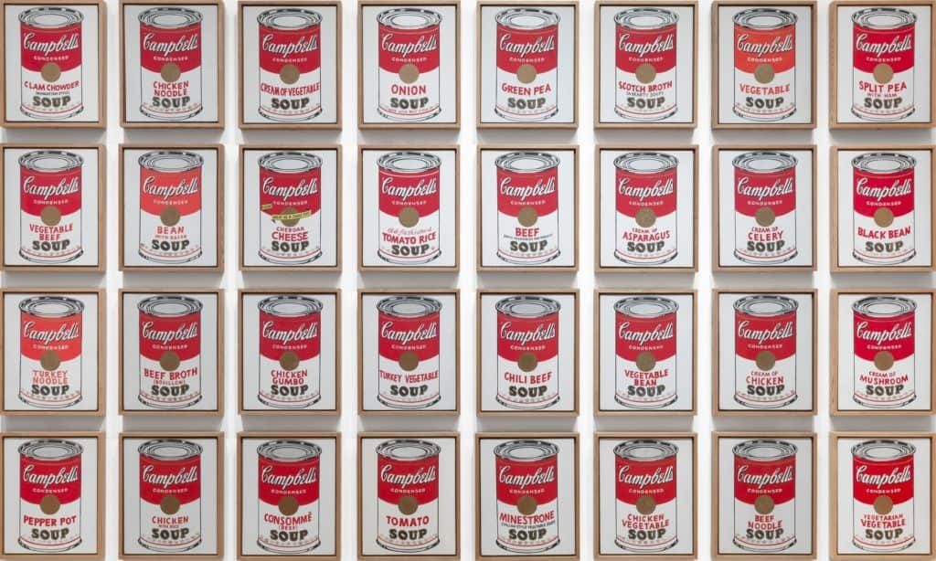 Campbell's Soup Cans (1962) by Andy Warhol