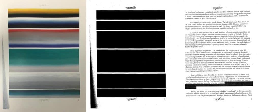 Jenny Holzer, Top Secret 3, 2012