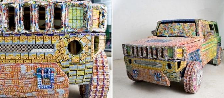 art media. Art using lottery tickets.