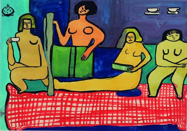 Les Peintres Célèbres (1948-1949) by Saloua Raouda Choucair