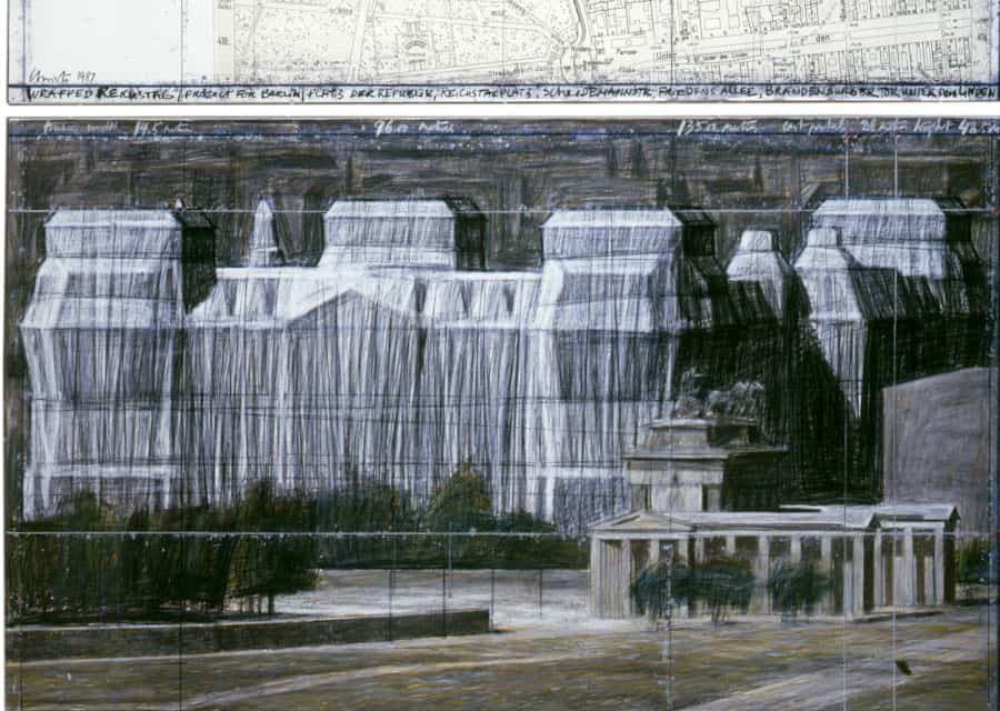 Christo, Wrapped Reichstag (Project for Berlin), 1987