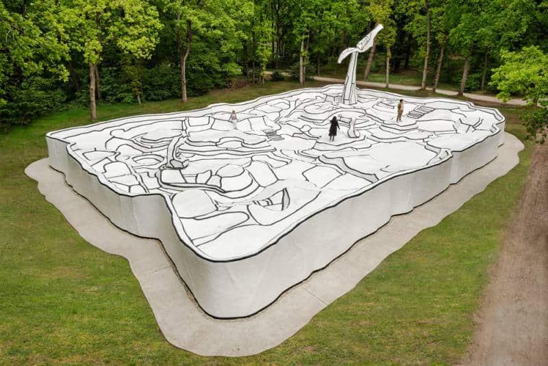 Jardin d'émail (1974) sculpture by Jean Dubuffet