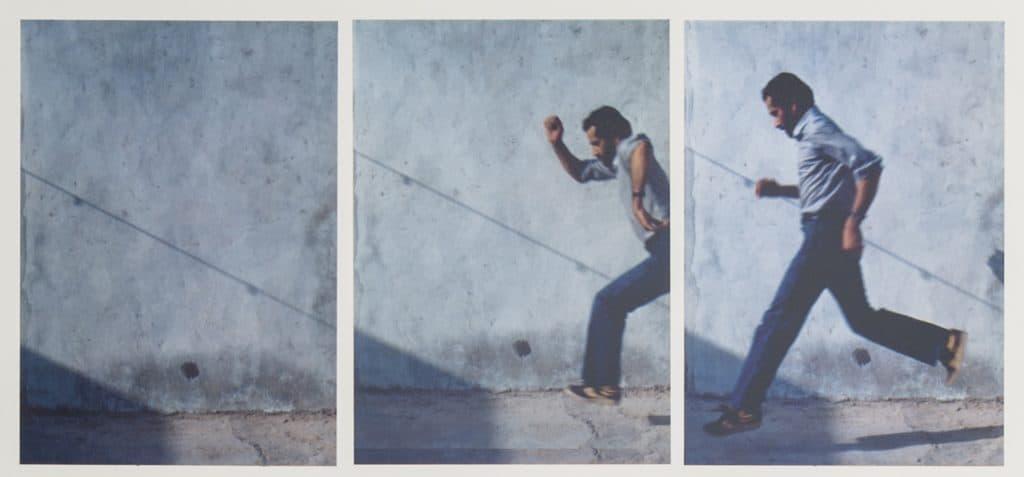 Hassan Sharif, Jumping No. 1, 1983. 3 of 7 photographs.