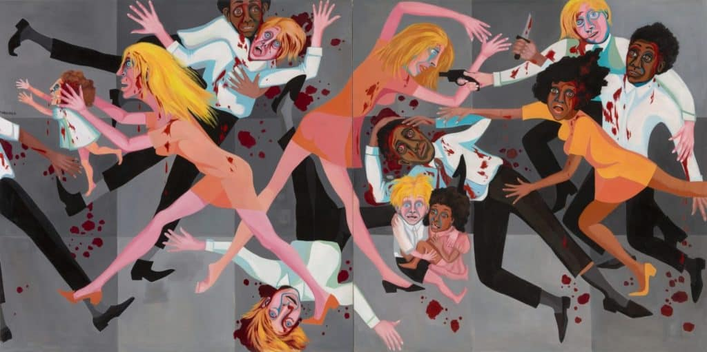 Faith Ringgold, The American People Series #20: Die, 1967, oil on canvas.