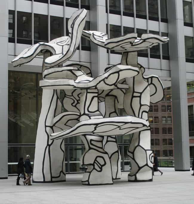 Groupe de Quatre Arbres sculpture (1972) by Jean Dubuffet