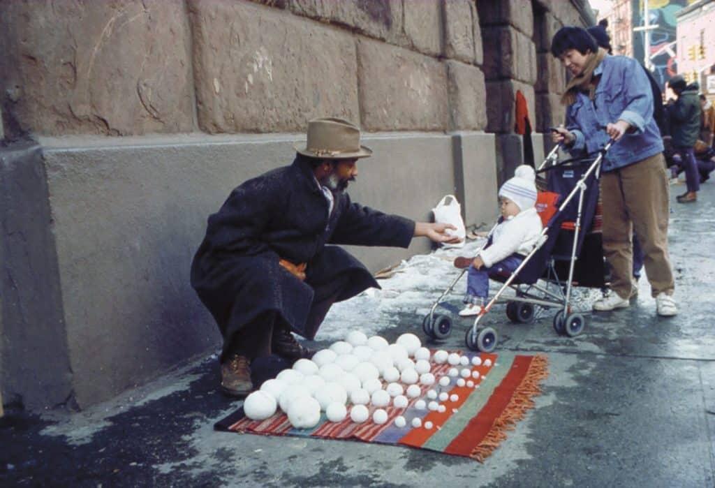 David Hammons, Bliz-aard Ball Sale, 1983
