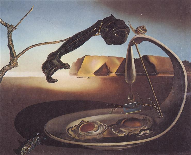 The Sublime Moment (1938) by Salvador Dalì.