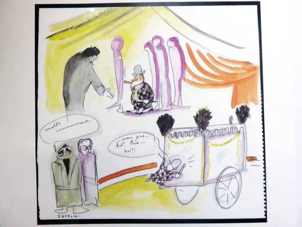 Fellini drawings art