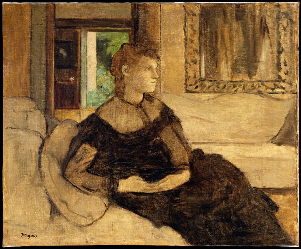 Edgar Degas, Madame Théodore Gobillard, 1869. Unfinished Art