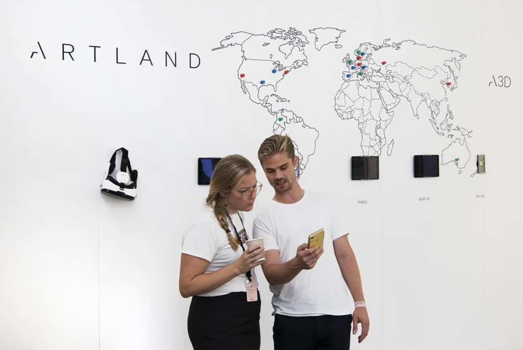 ARTLAND Tech demo at ENTER Art Fair Copenhagen, 2019.