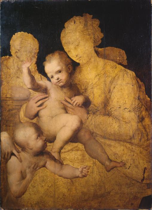 Perino del Vaga, Holy Family with Saint John the Baptist