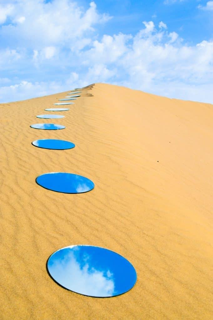 mirror in the desert - Shirin Abedinirad, Evocation