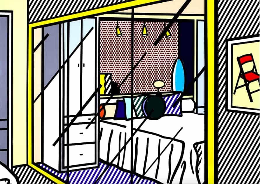 Interior with Mirrored Closet (1991) by Roy Lichtenstein