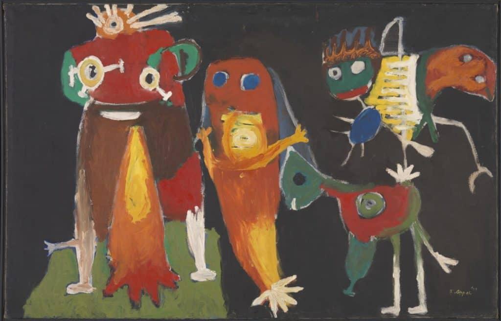 Karel Appel, Hiep, hiep, hoera!, 1949