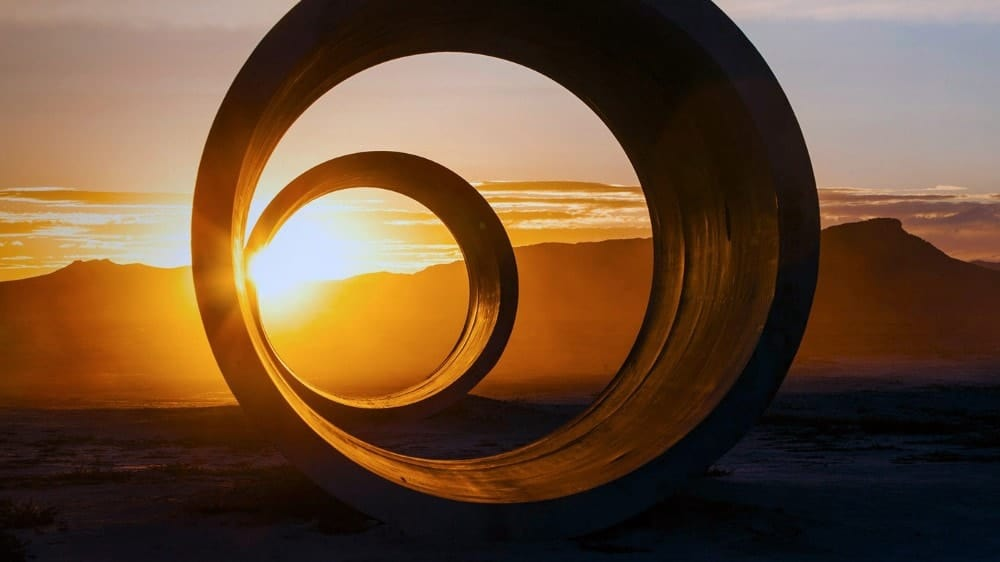 Great Basin Desert - Sun Tunnels by Nancy Holt