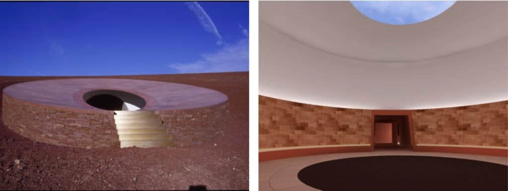 James Turrell, Roden Crater, Painted Desert, Arizona, 4.3km, 2024.