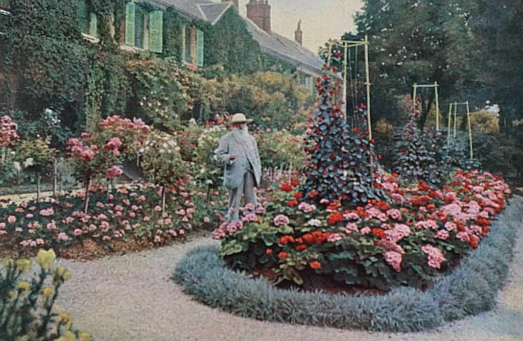 Claude Monet in his garden, 1927.