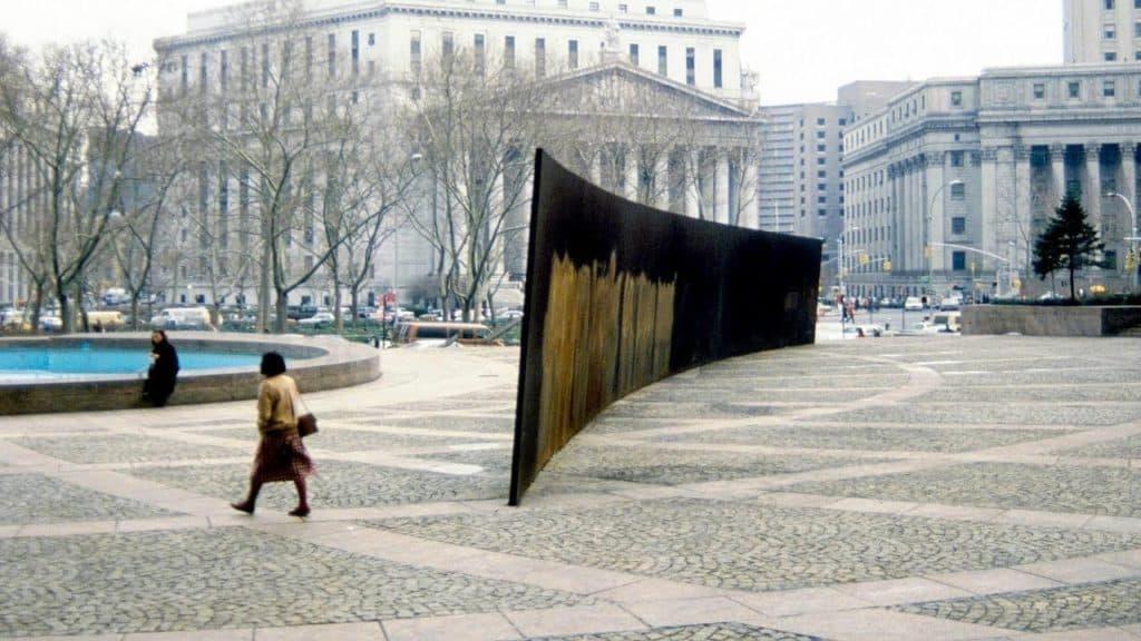 Tilted Arc (1981) by Richard Serra