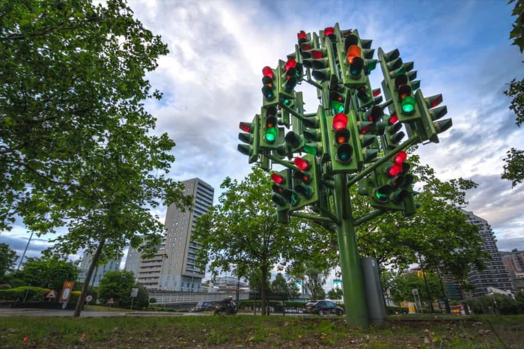 Traffic Light Tree by Pierre Vivant
