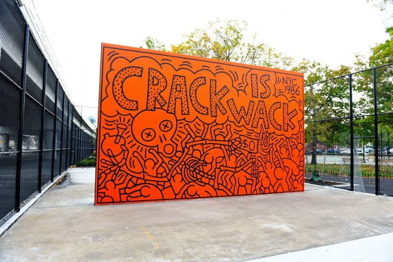 Keith Haring Crack is Wack controversial public art