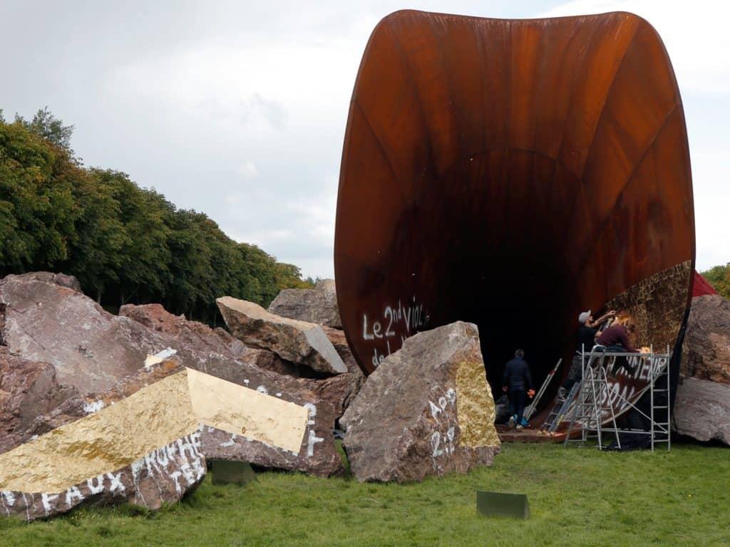controversial public art - Anish Kapoor's Dirty Corner